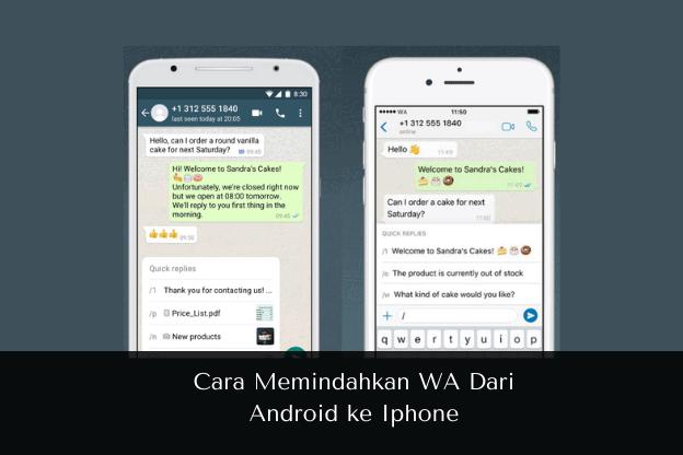 Cara Memindahkan WA Dari Android ke Iphone - Muhamadridwan.com