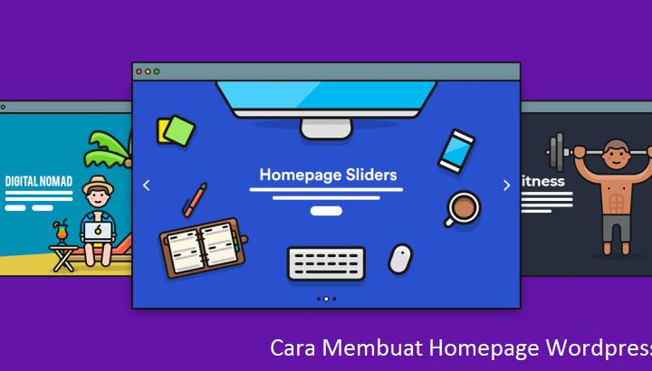 cara membuat homepage wordpress