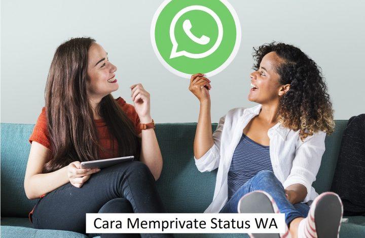 Cara Memprivate Status WA