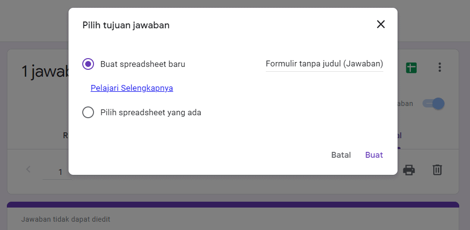 Cara Menghubungkan Google Form Dengan Google Spreadsheet - 2