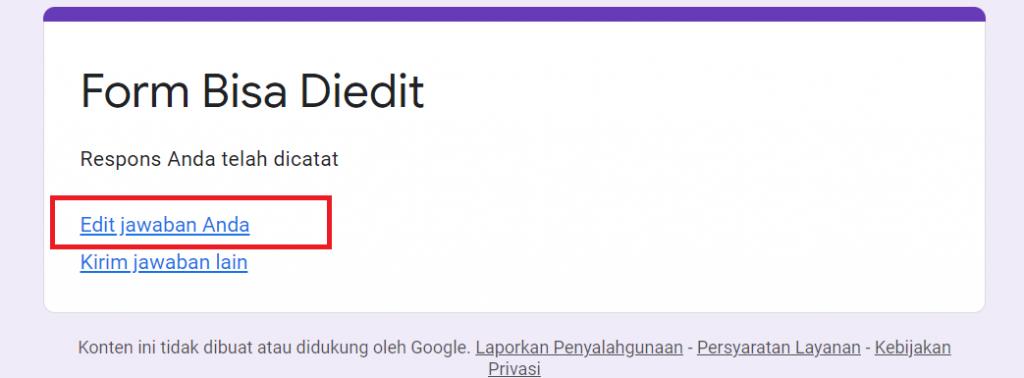 Google Form Bisa Diedit
