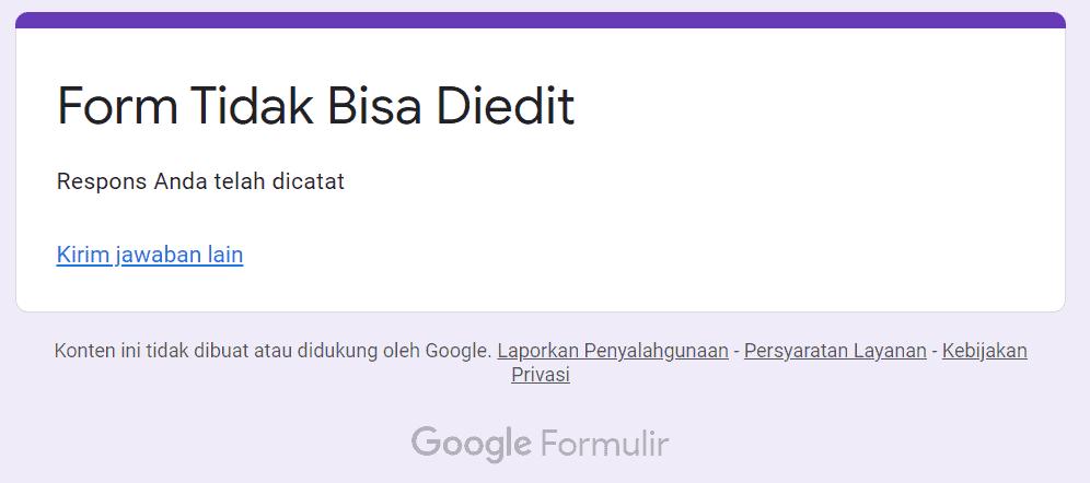 Google Form Tidak Bisa Diedit